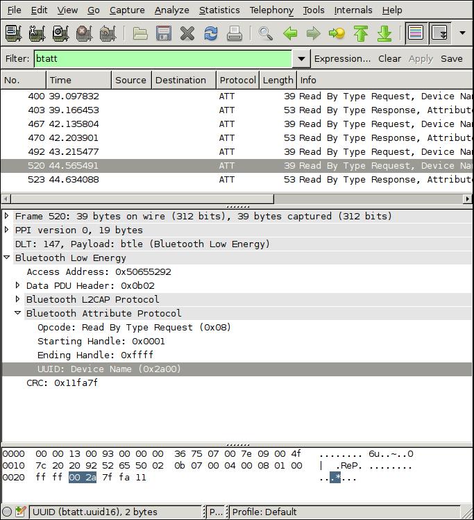 Bluetooth Smart Wireshark Plugin